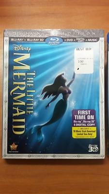 Купить Disney's The Little Mermaid (Blu-ray 2D/3D/DVD/Digital) Brand New Sealed+Sleeve!