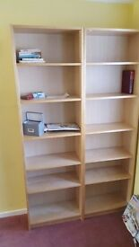 Ikea -pair tall book shelves