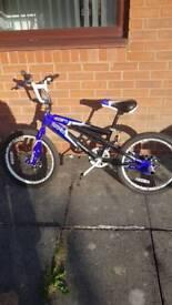 Dual shock BMX bike