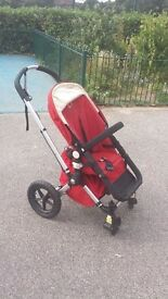 bugaboo frog red pram buggy pushchair