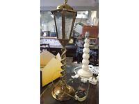 Vintage Brass Lantern Table Lamp
