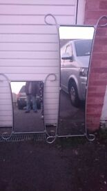 Set of Two Matching Mirrors