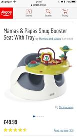 Mama & papas booster seat with playing tray (in perfect condition) for only £20