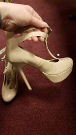 Nude shoes size 4 worn once