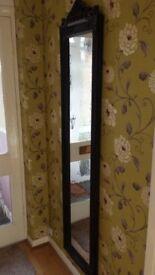 Black ornate full length mirror from the Range