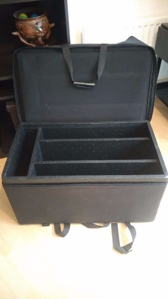 DJ/Band Equipment Carrying Case for Amps, Pre Amps, Equalizers etcin Birmingham City Centre, West MidlandsGumtree - DJ/Band Equipment Carrying Case for Amps, Pre Amps, Equalizers etc. Outer dimensions in cms 80L x 47W x 43H. Inner dimensions in cms All compartments are 38 Deep. 2 are 64L x 11W, 1 is 64L x 16W, 1 is 42L x 9W In good condition no tears etc. All...