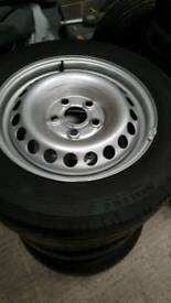 Vw transporter t5.1 steel wheels and conti tyres