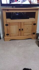 Solid wood tv unit and wood telephone table