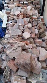 Bagged builders Rubble, Old whole bricks and half bricks