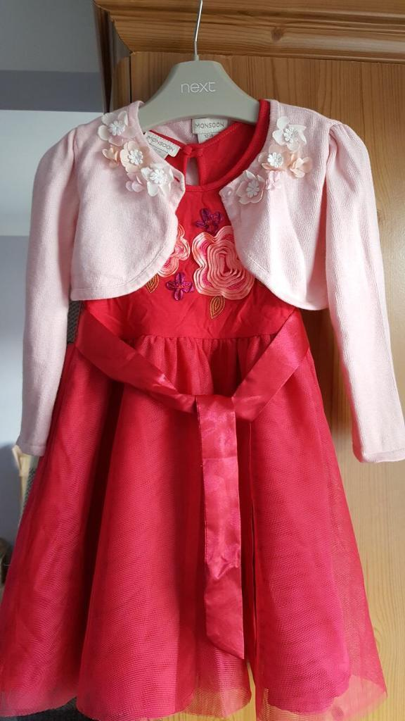 Monsoon dress and cardigan 12-18m