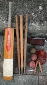 England willow cricket bat set