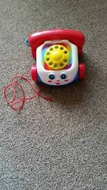 Fisher Price phone /telephone pull along aston s26