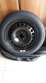 vauxhall corsa d spare wheel & tyre
