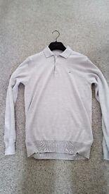 J.Lindeberg Gerson True Merino Knit Golf Polo- Melange Grey - Size S RRP £100