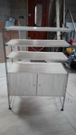 storage unit and rack for workshop or garage or tv and media stand