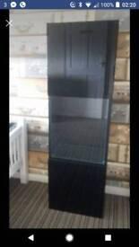 Black high gloss wall mounted led display unit