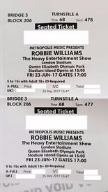 ROBBIE WILLIAMS CONCERT - LONDON 2 TICKETS