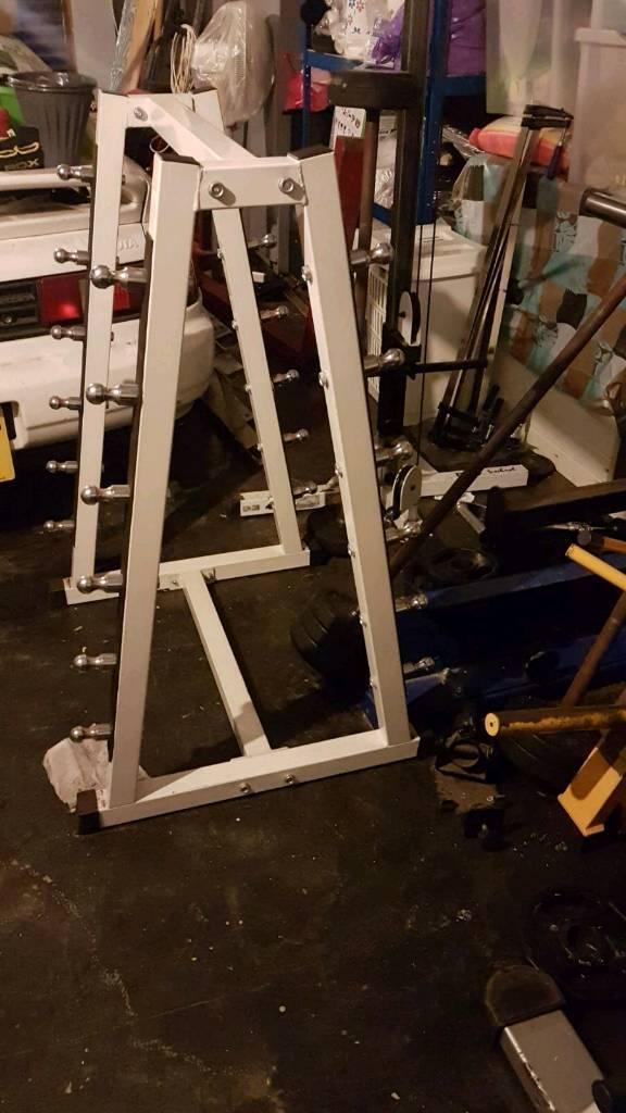 Barbell holder rack gym equipment