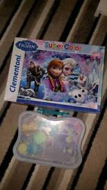 Disney frozen puzzle & little kingdom frozen celebration set