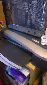 NEEDING SERVICED LARGE FORMAT HP 130NR PRINTER PRINTS UPTO A1+ CANVAS AND PRINTS BANNERS ETC