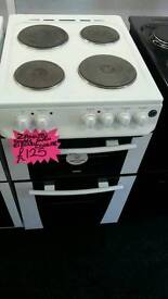 ZANUSSI 50CM ELECTRIC DOUBLE OVEN COOKER IN WHITE