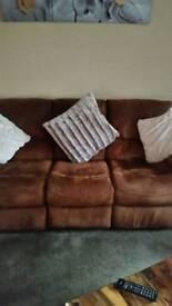 Suede brown suite