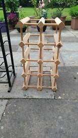 Small wooden wine rack.