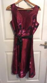 Bonmarch red dress size 12