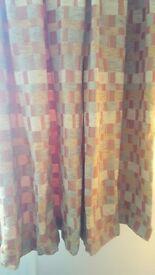 Gold, russett lined curtains originally cost £380