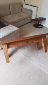 Solid wood old coffee table