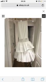Wedding underskirt with hoop 100% polyester extra small