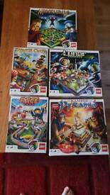 LEGO Games (Race, Pirate Code, Minotaurus, Lunar Command and Pyramid)