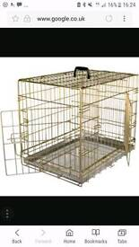 Gold dog cage - 98x68cm must go soon
