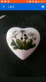 Portmeirion heart shaped trinket