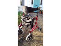 Lightweight folding walker/rollator