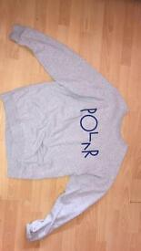 Grey Polar sweater size medium
