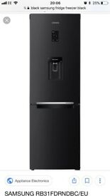 Black gloss fridge freezer