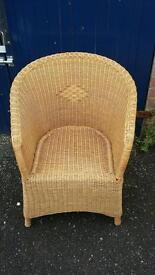 Wicker chair with closed back ( DELIVERY AVAILABLE )