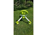 Childs lime green Pewi Y Bike / walker