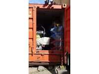 Job lot of 30ft container full of house hold items.
