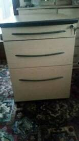 Three Draw Filing Cabinet with lock
