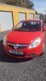 Vauxhall Corsa 1.0 life red