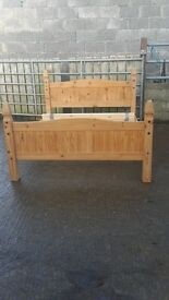 Mexican pine bed frame king size