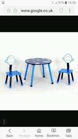 Dunelm space mission table and chairs