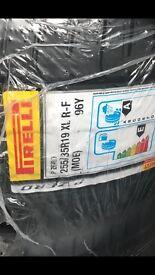 pirelli pzero 255 35 19 xl rf 96y run flats brand new