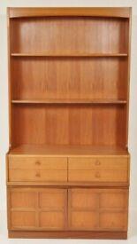 Mid-Century Modern Danish Teak Dresser/Wall Unit/Bookcase/Hutch by Nathan Furniture, 1960s