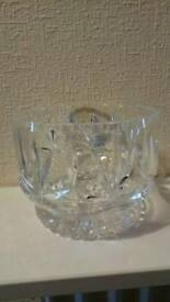 Crystal vase and bowl