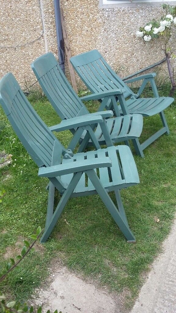 Patio Chairs Green Reclining Grosfillex Miami In Stroud