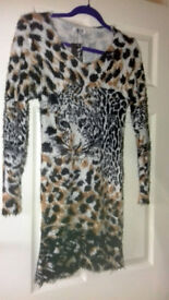 Brand New with tags Fluffy Leopard Print Jumper by M & C fashion Size UK 12/14