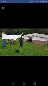 Bedouin canvas tent